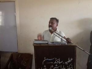 PTU leader speaking at seminar