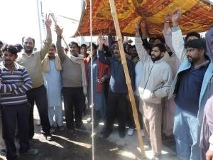 UD workers In front of factory gate