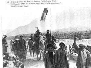 arrival of sardar alam, 1st pakistan political agent to Gilgit