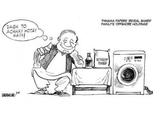panama papers and nawaz sharif cartoon