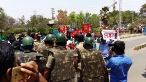 police oppression on HCU students
