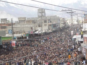 Huge protest in GB against administration 2014