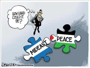 Middle East Peace Puzzle Cartoon