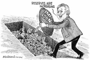 Pakistan Foreign Exchange Reserves Cartoon