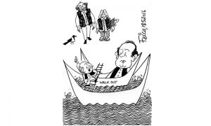 United Opposition walkout from Parliament Cartoon