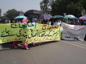 Young Nurses Protest In Lahore 00