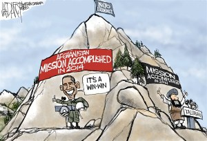 Obama Afghan War Cartoon
