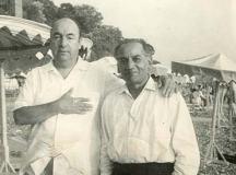 پابلو نرودا اور فیض احمد فیض کی ایک یادگار تصویر