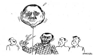 Farooq Sattar Dis-owning Altaf Hussain Cartoon