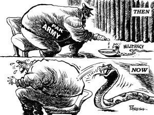 Pak Army Feeding Terroists Cartoon