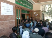 کوئٹہ: اتحاد میٹرو پولیٹن کارپوریشن لیبر یونین(سی بی اے) کا افسر شاہی کے خلاف احتجاج کا تیسرا روز