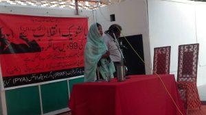 karachi-hani-baloch-addressing-at-bolshevik-day-celebrations-program
