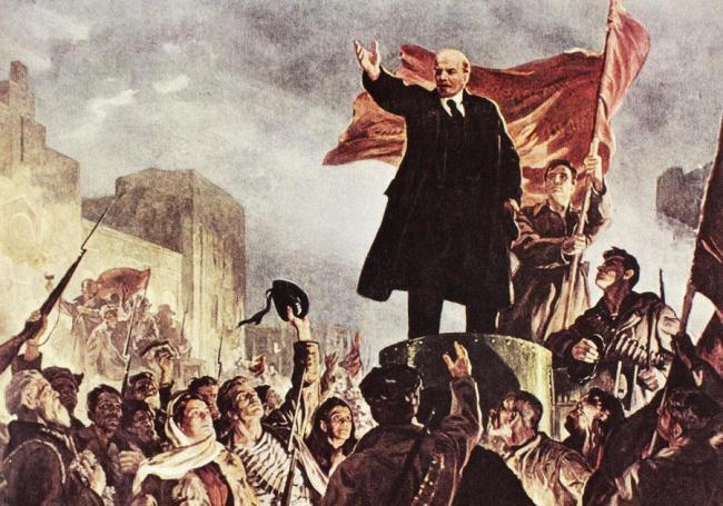bolshevik-revolution-lenin-painting