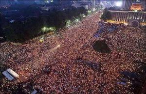 جنوبی کوریا: دو لاکھ افراد کا احتجاجی مظاہرہ