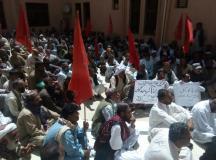 کوئٹہ: پی ڈبلیو ڈی ایمپلائز یونین کا مسائل کے حل کے لئے احتجاجی جلسہ