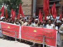 کوئٹہ:ریلوے محنت کش یونین کی مطالبات کے حق میں ریلی اور احتجاجی مظاہرہ