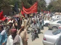 کوئٹہ: پی ڈبلیو ڈی کے محنت کشوں کی احتجاجی ریلی و مظاہرہ