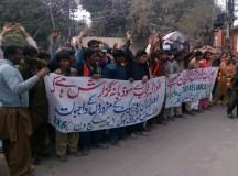 لاہور: اورنج لائن کے تعمیراتی مزدور کئی ماہ کی تنخواہوں کی عدم ادائیگی کے خلاف سراپا احتجاج