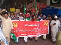 پاکستان سٹیل ملز کے محنت کشوں کا اجرتوں کی عدم ادائیگی اور نجکاری کے خلاف ٹرین مارچ