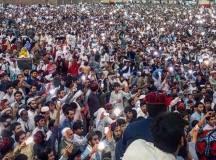 پشاور جلسے کا ایک منظر