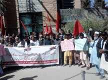 کوئٹہ: کانوں میں حادثات، کان کنوں کی اموات اور بھٹوں کی بندش کیخلاف احتجاج