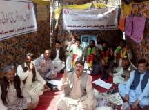 کوئٹہ : وطن ٹیچرز ایسوسی ایشن کا علامتی بھوک ہڑتالی کیمپ