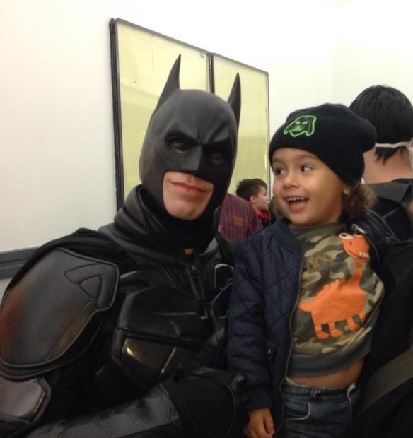Tyler with Batman