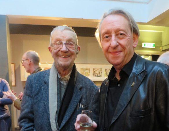 Donald Rooum with Bryan