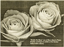 Long Islander article - Double Red Roses by Mary Ahern