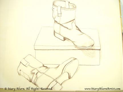 My son Chris' denin boots