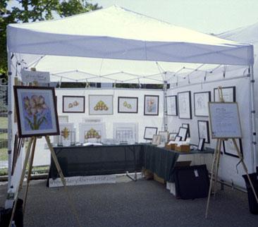 Westhampton Beach Art Festival, August 2004 with the artist, Mary Ahern