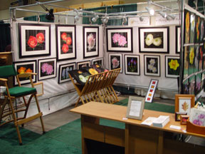 2007-02 CT Flower & Garden Show. Indoor booth with panels.