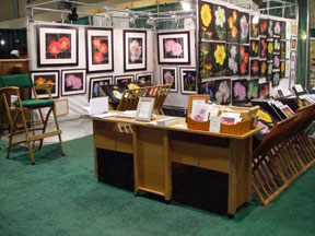 2007-02 CT Flower & Garden Show with the artist, Mary Ahern.