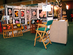 Connecticut Flower & Garden Show booth set up in February of 2008 for the artist, Mary Ahern.