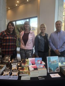 authors M. A. Clarke Scott with Jackie Bateman, Donna Barker and Lawrence Verigin at Chapters Indigo Granville and Broadway in Vancouver