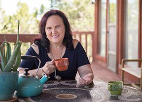 Marya at tea