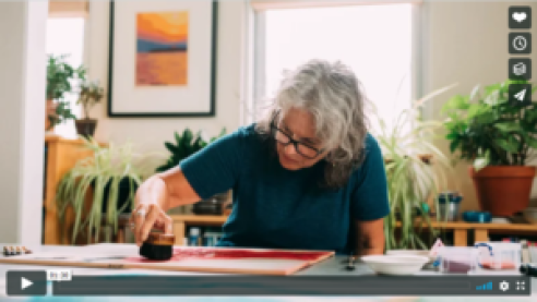 Video Mary Brodbeck in her woodblock print studio – www.marybrodbeck.com