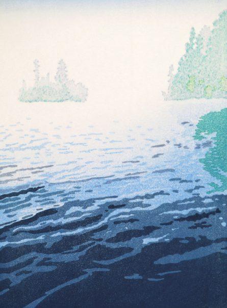 """Veil"" woodblock print – www.marybrodbeck.com"