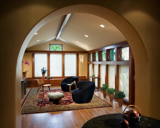 urban house renovation, family room. mary cerrone architecture, pittsburgh