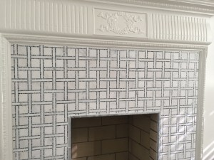 fireplace detail center hall house Mary Cerrone Architecture & Interiors Pittsburgh