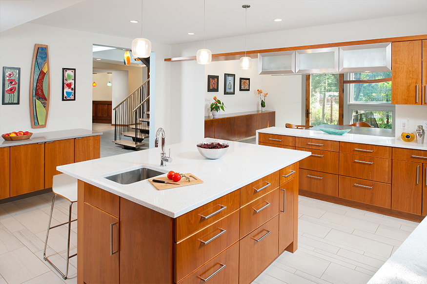 Courtyard House Kitchen Mary Cerrone Architect Pittsburgh
