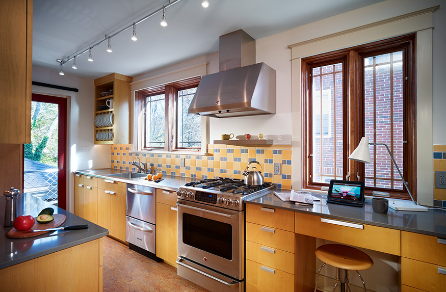 galley kitchen and deck Mary Cerrone Architecture & Interiors Pittsburgh