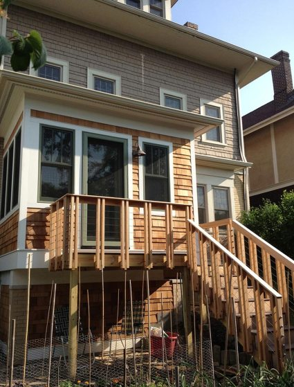 back yard addition and deck Mary Cerrone Architecture & Interiors Pittsburgh