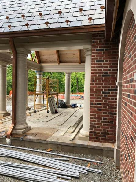Pool House, View through Floor, Mary Cerrone Architect, Pittsburgh, PA,