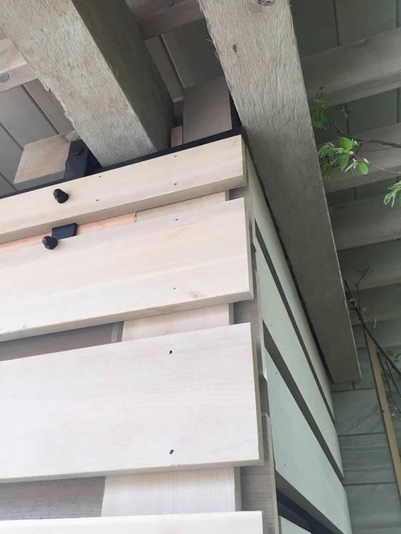 New Pool Pavilion, Corner Detail. Mary Cerrone Architect, Shadyside, PA