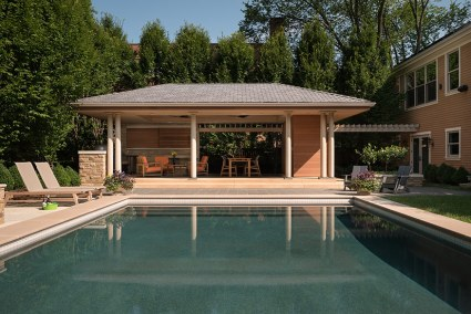 Pool Pavilion, Closeup. aMary Cerrone Architect, Shadyside, PA