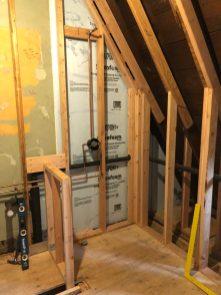 attic bathroom framing and insulating Mary Cerrone Architecture & Interiors Pittsburgh