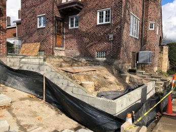 transforming a sloped back yard Mary Cerrone Architecture & Interiors Pittsburgh