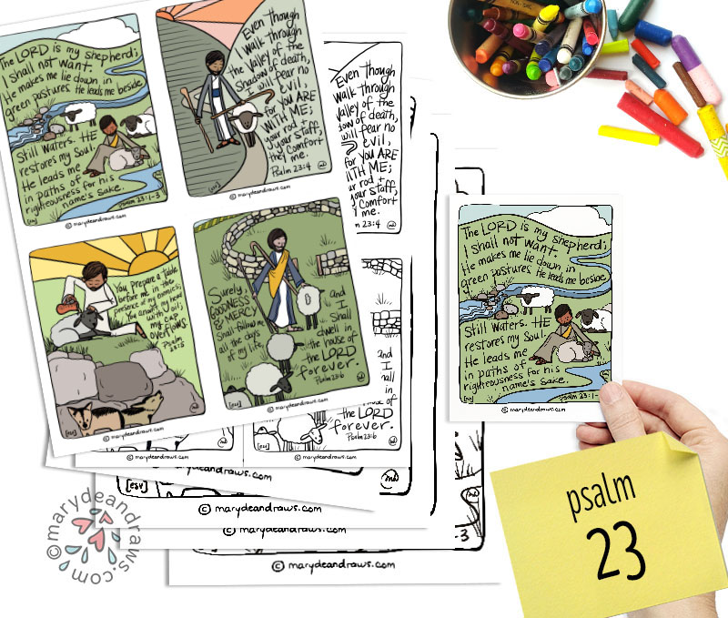 This is a picture of Psalm 23 Printable within family printable