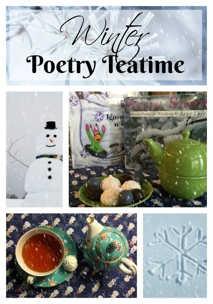 Check out ideas to host a winter themed poetry tea time with your children.